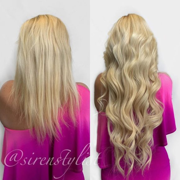 25 in hairtalk platinum blonde tape in extensions