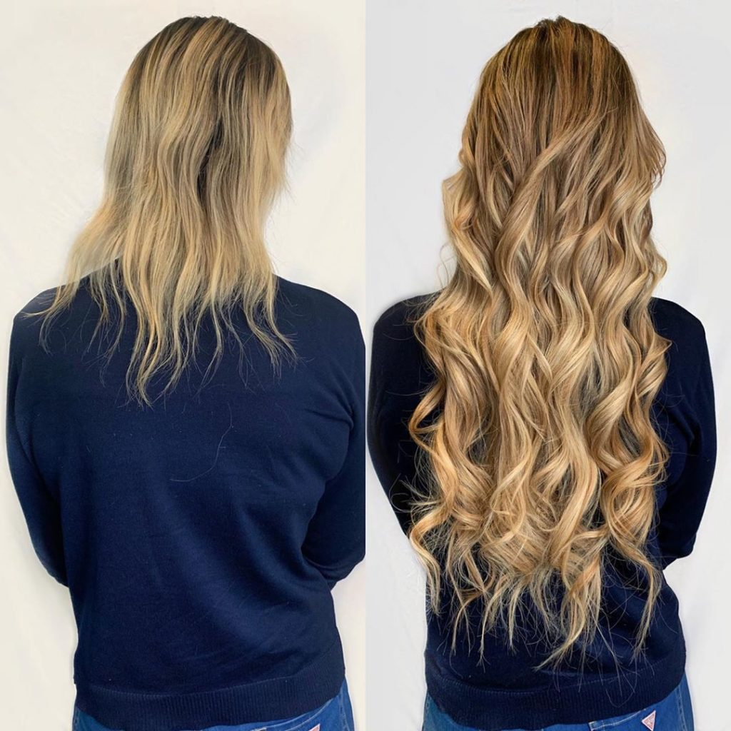 hair extensions by the siren stylist