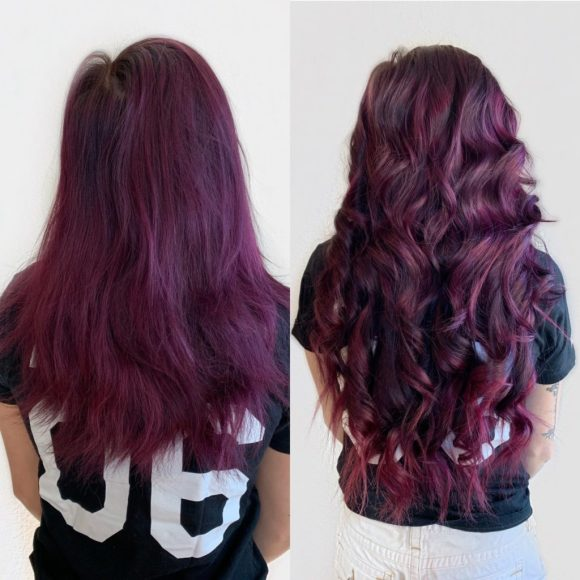 hand tied wefted extensions with fashion color
