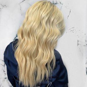 blonde hair caitlyn glo extensions denver