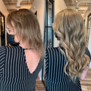 hand tied wefted hair extensions VA beach 1