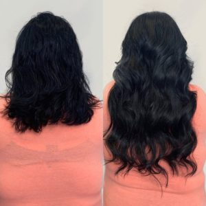 20 in clipin hair extensions for her wedding