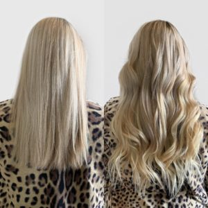 blonde hand tied wefted hair extensions