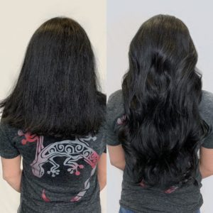 clip in hair extensions by caitlin essing the siren stylist VA Beach