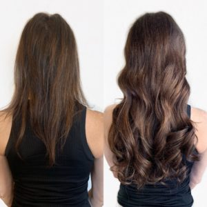 hand tied wefted extensions by Caitin E VA Beach