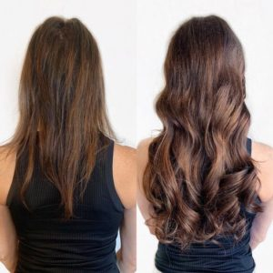hairtalk hand tied weft extensions by Caitlin E VA Beach