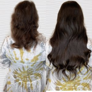 clip in halo hair extensions before and after caitlin essing