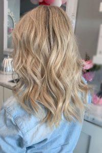 13 in blonde hairtalk tape in hair extensions