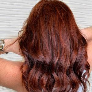 auburn hair custom colored extensions VA Beach
