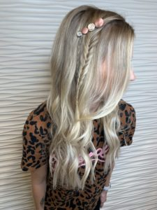 braided hairstyle with fusion hair extensions VA beach