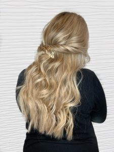 hairstyle with fusion hair extensions VA beach