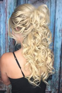 half updo with tape in extensions VA Beach