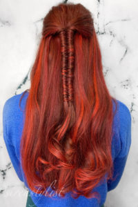 tape in extensions with infinity braid VA braid