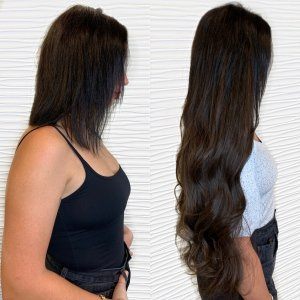 brunette-wavy-Great-lengths-extensions-salon-VA-Beach-2