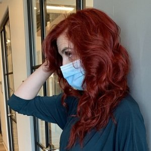 red hair color VA Beach Siren Stylist