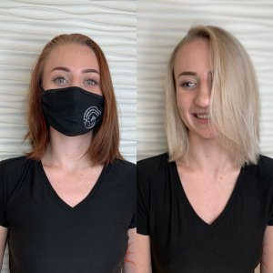 blonde hair service VA Beach Siren Stylist