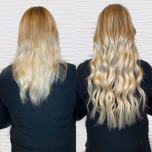 blonde-Hairtalk-hand-tied-wefts-salon-VA-Beach