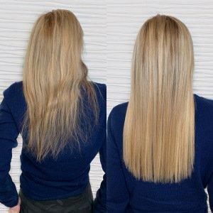 hand-tied-weft-extensions-blonde-hair-VA-Beach-Siren-Stylist