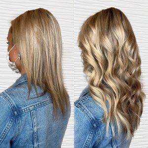 Tape in Hair extensions VA Beach Siren Stylist